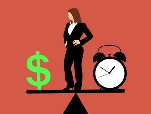 שעון אישה וכסף