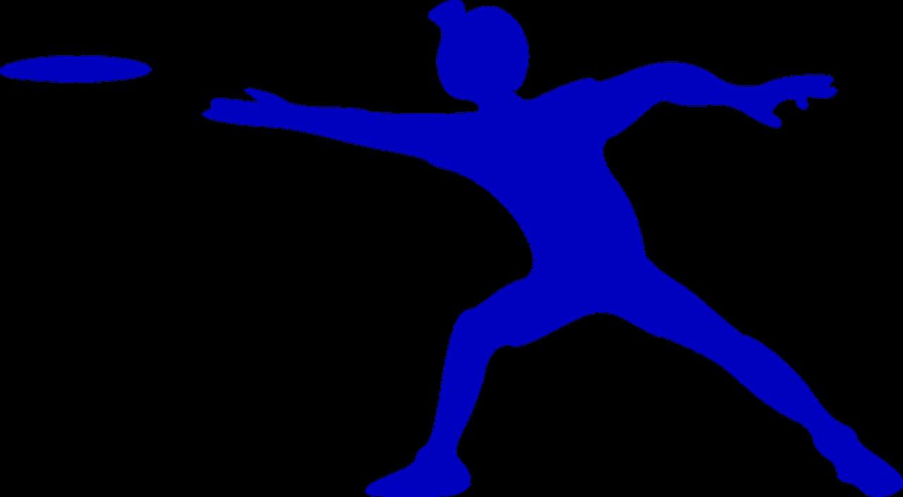 איש זורק צלחת מעופפת